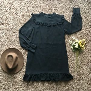Ann Taylor Ruffle Detailed Shift Dress